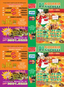 Flyers - Pizzarias, Deliverys e Restaurantes - Dinapoli